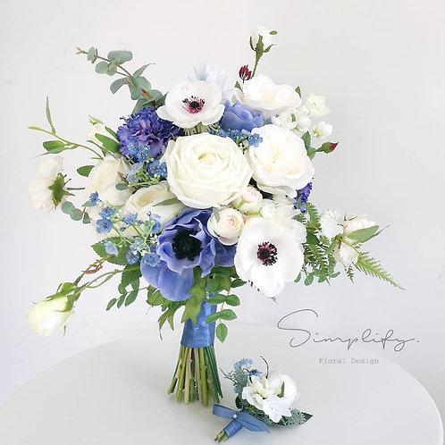Blue & White Anemone