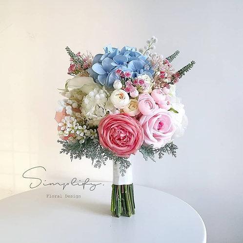Sweet pink & light blue
