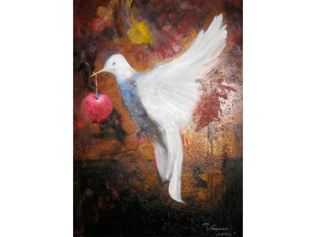 Aliadas de la Paz - Autor:Martha Chapa / Oleo sobre lamina