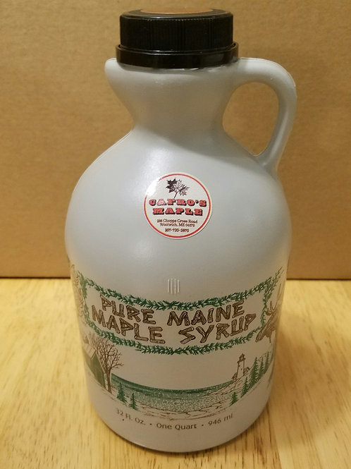 One quart pure Maine maple syrup