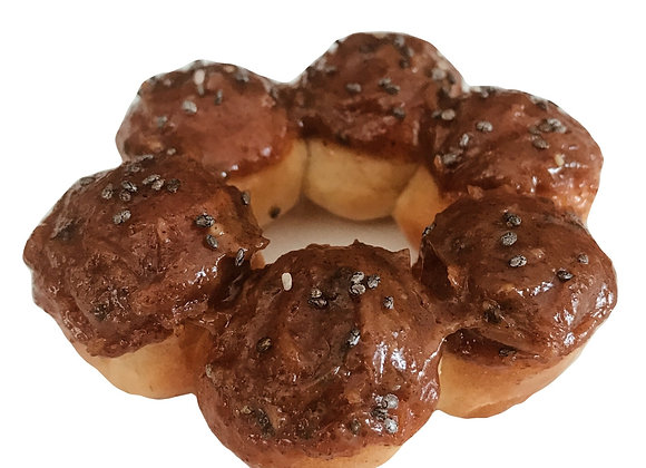 organic almond caramel air-fried donut