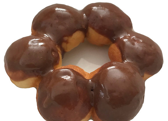 organic chocolate glazed air-fried donut