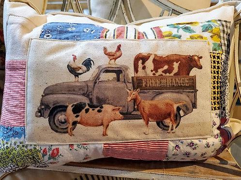 Quilt bordered Pillows