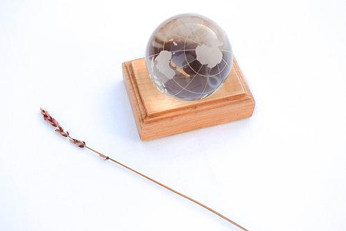 Bola del mundo cristal + soporte
