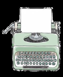 vector-dibujado-mano-maquina-escribir-ve
