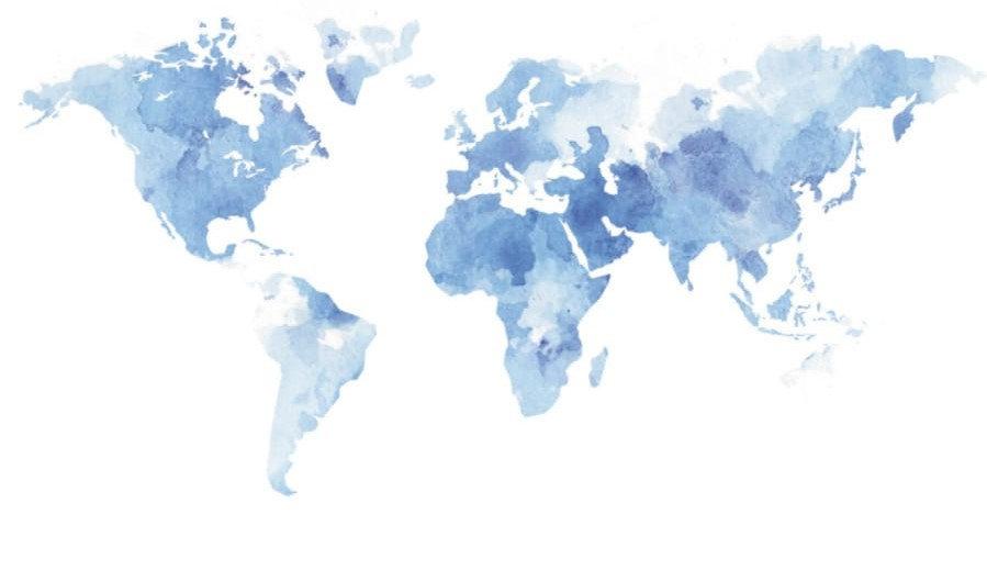 Mapa mundi acarela