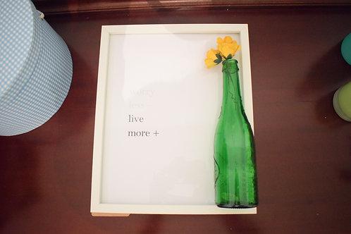 lámina worry less live more