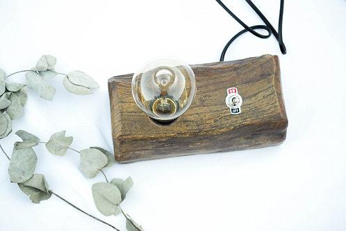 lámpara vintage rústica con bombilla edison