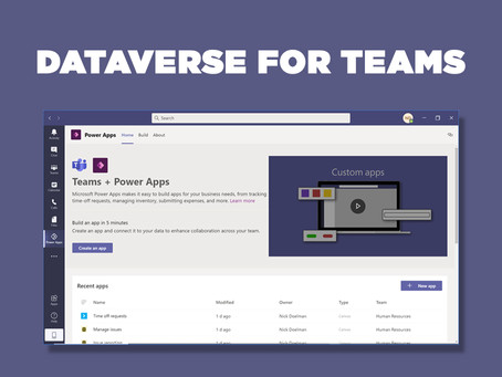 Dataverse for Teams