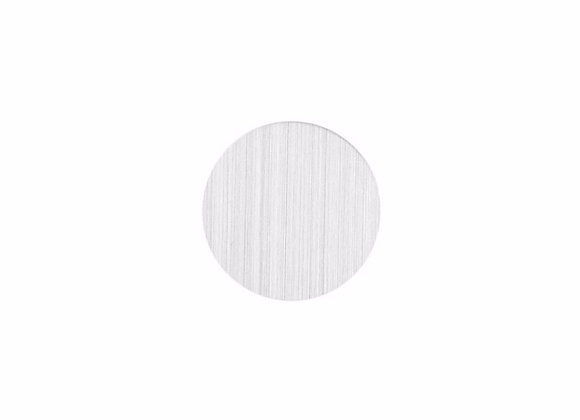 Plain Backing Plate- Silver