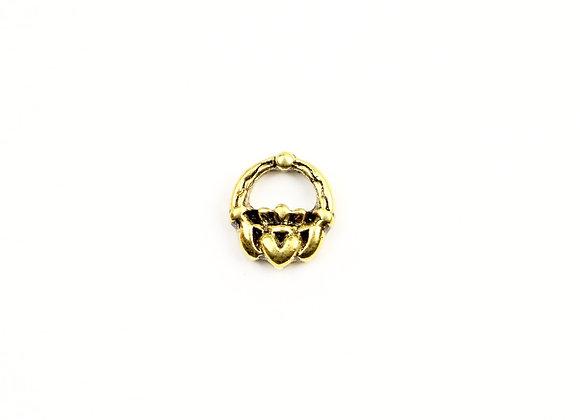Vintage Golden Claddagh Charm