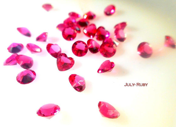 July Birthstone (Ruby) (From €2)