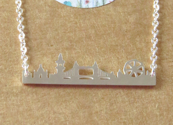 London Skyline Necklace Silver