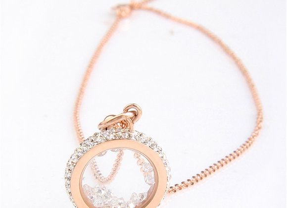 Baby Poppy Necklace Rose Gold