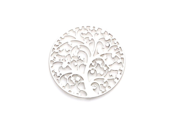 Love Blossoms Tree Plate- Silver