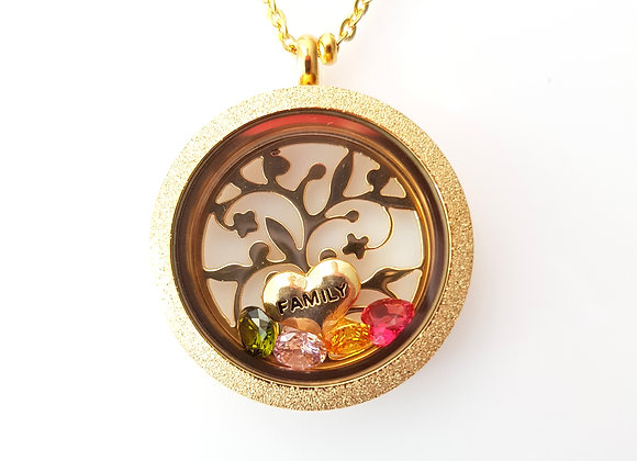 Shining Tree of Life Family Tree Locket