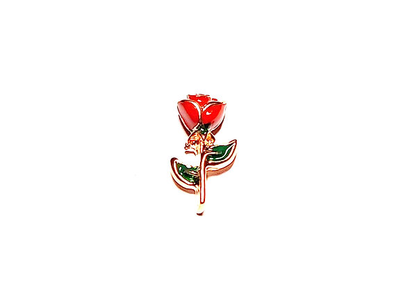 3D Red Rose Charm