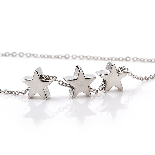 Three Wishes Necklace Silver