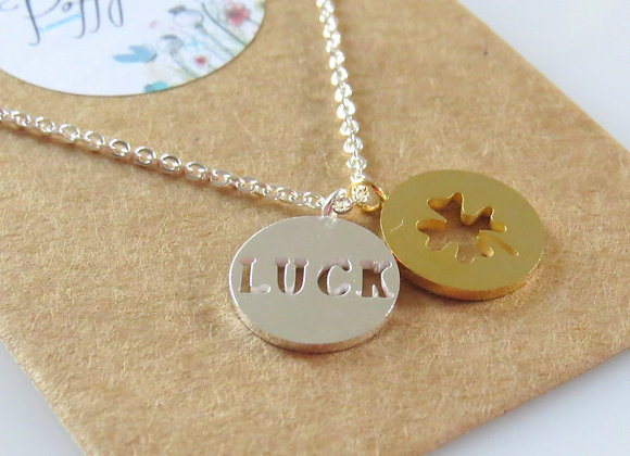 Luck of the Irish Necklace Silver