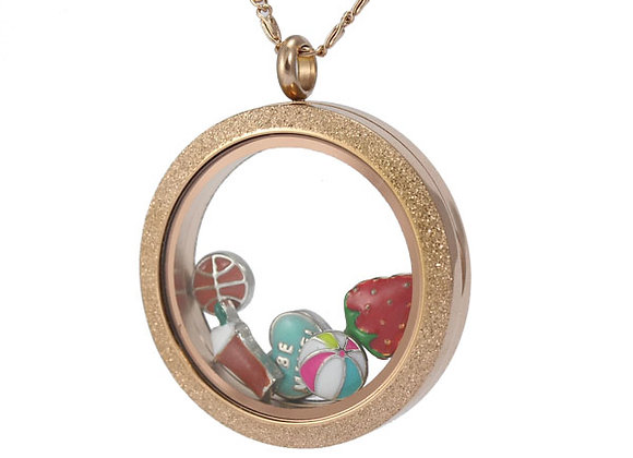All That Glitters Rose Gold Locket