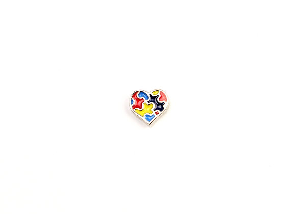 Autism Awareness Jigsaw Heart Charm