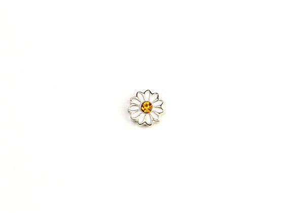 Daisy/Gerbera Flower Charm White