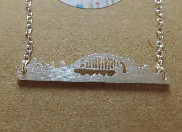 Sydney Skyline Necklace Silver