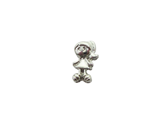 Girl Charm Silver (new)