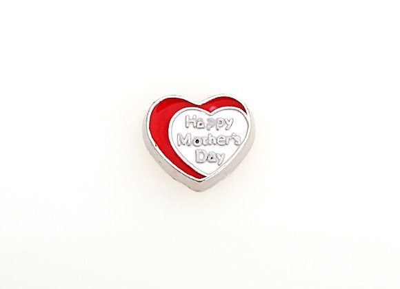 Happy Mothers Day Heart Charm