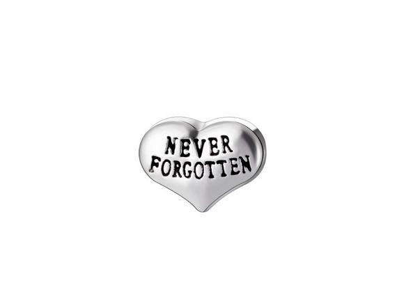 Never Forgotten Heart Charm