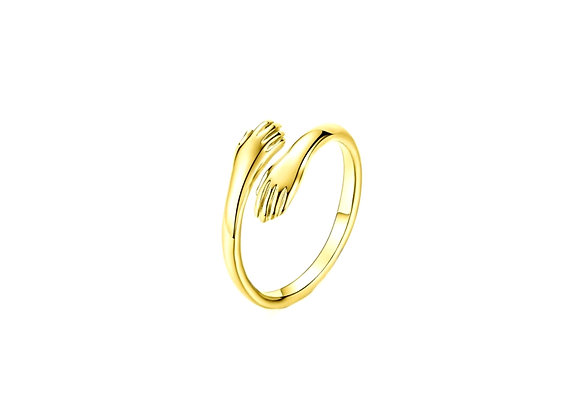 Virtual Hug Ring- Gold