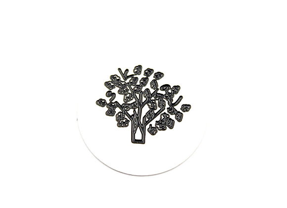 Etched Tree Plate- Silver