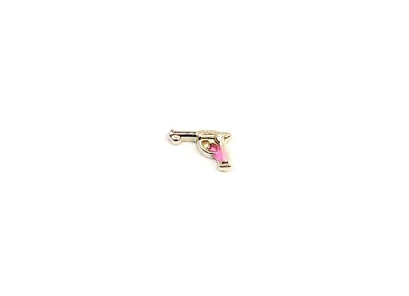 Pink Gun Charm