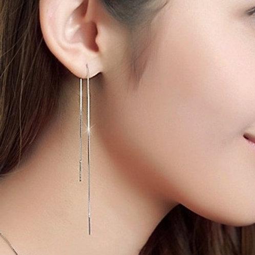 Silver Tassel Earrings (2 lengths)