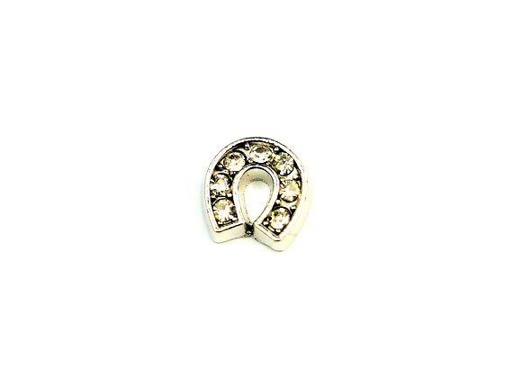 Horse Shoe Charm with Rhinestones