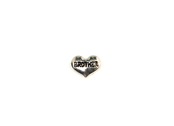 Brother Heart Charm