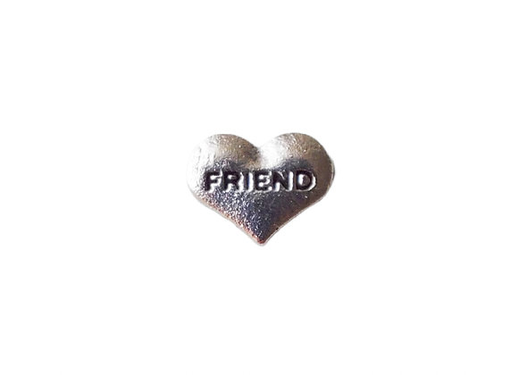 Friend Heart Charm Silver