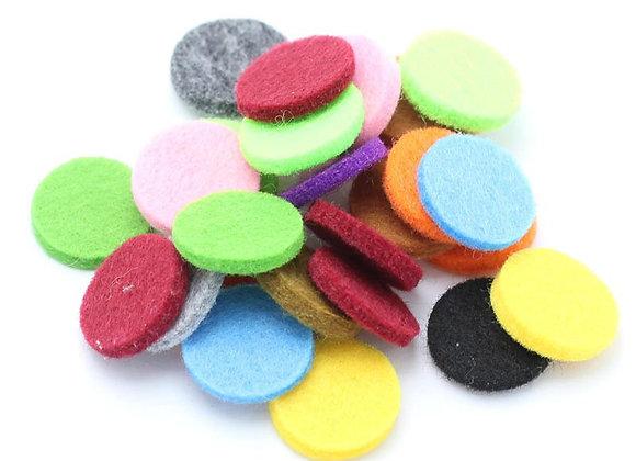 Aromatherapy Felt Pads 22mm (10 Pack Mix)