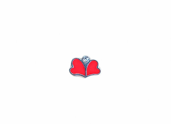 Butterfly Hearts Charm