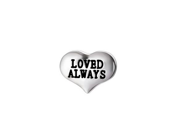 Loved Always Heart Charm
