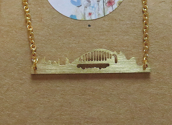 Sydney Skyline Necklace Gold