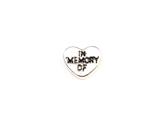 In Memory of Heart Charm