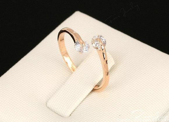 Dew Drops Ring Rose Gold 18ct RGP