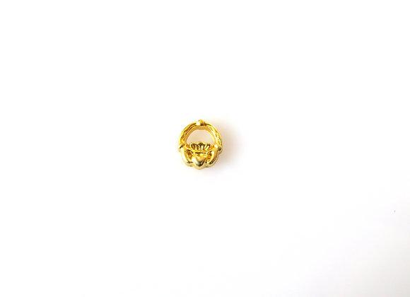 Golden Claddagh Charm