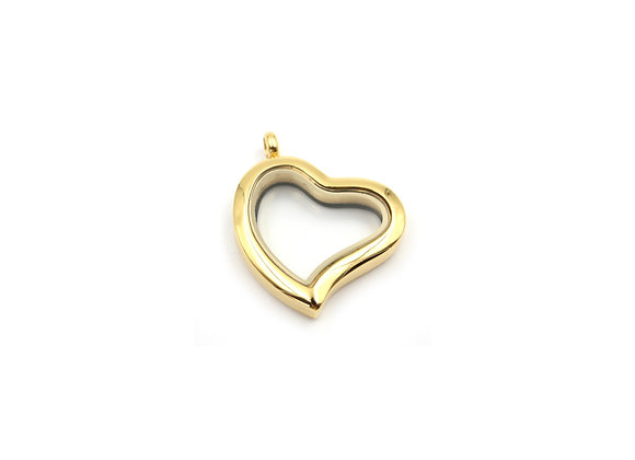Gold Curved Heart Locket