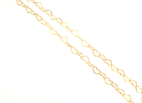 "Gold Heart Link Chain 40cm (15 ¾"")"