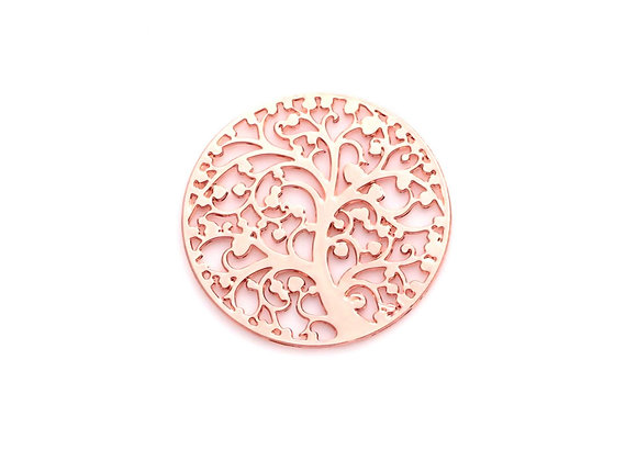 Love Blossoms Tree Plate- Rose Gold