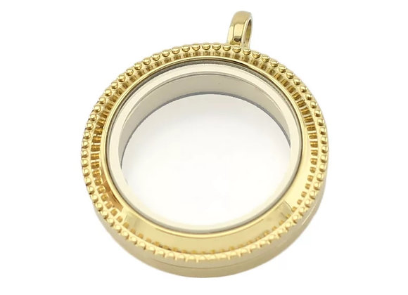 Gold Heirloom Locket 30mm