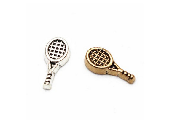 Tennis Racket Charm- Silver or Bronze