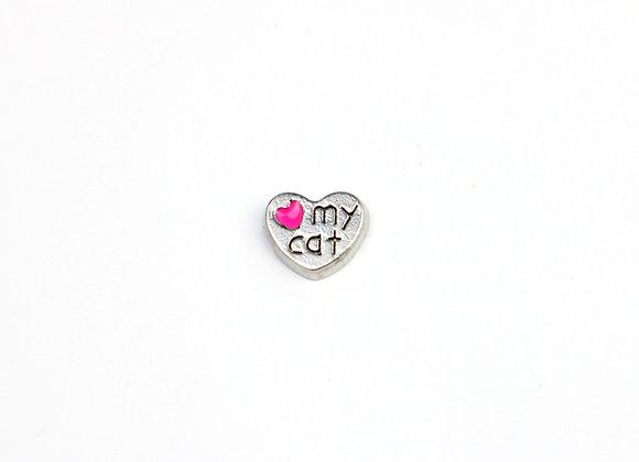 Heart My Cat Charm